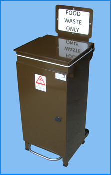 Front Access Foodwaste Pedal Bin
