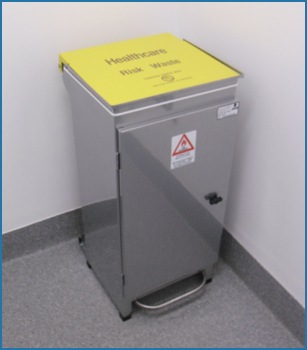 Large Stainless Hospital Bin